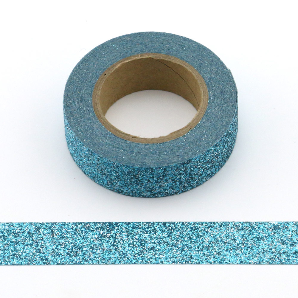 1 roll Glitter Sparkle Washi Tape for Christmas Gift Wrapping Adhesive Masking Decorative DIY Tape (1.5CMx5M)