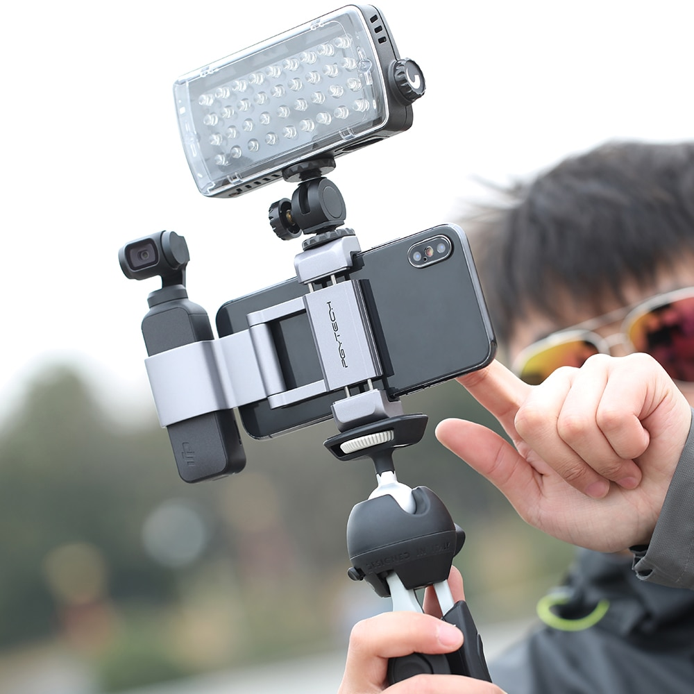 PGYTECH For DJI Osmo Pocket 2 Accessories Foldable Phone Holder Plus Bracket Set of PGYTECH Newest Product In Stock