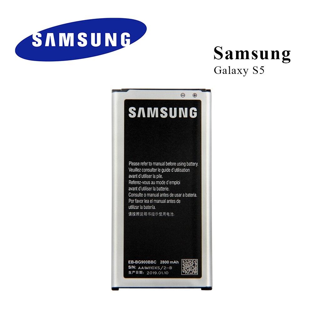 Original para Samsung Galaxy S5 batería G900 G900S G900I G900F G900H 9008V 9006V 9008W EB-BG900BBE EB-BG900BBU EB-BG900BBC NFC