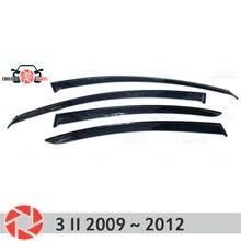 نافذة عاكس لمازدا 3 2009 ~ 2012 المطر عاكس الترابية حماية سيارة اكسسوارات الديكور التصميم صب