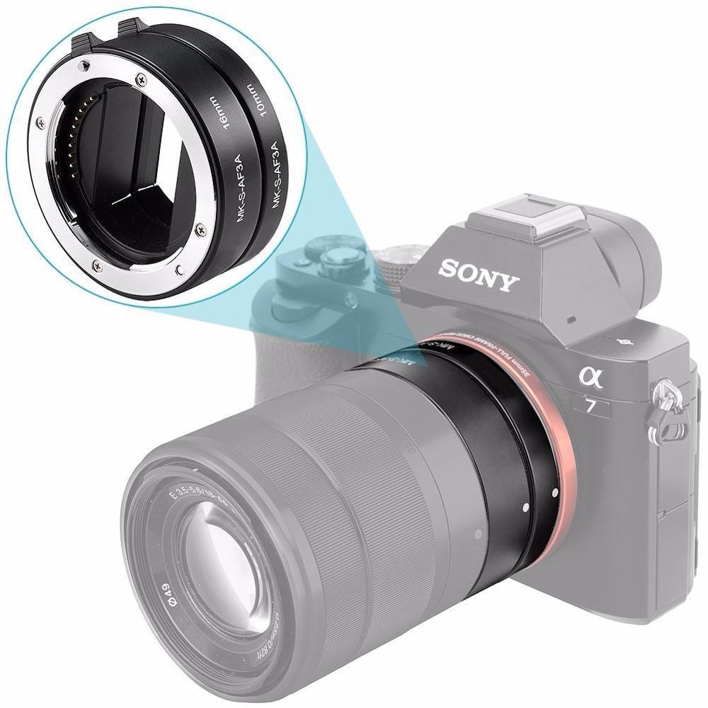 Meike 10 мм 16 мм макроудлинительная трубка Адаптер кольцо объектив Автофокус для Sony NEX E-Mount a9 a7m3 a7r3 a7m2 a7r2 a7 a6500 a6400 nex