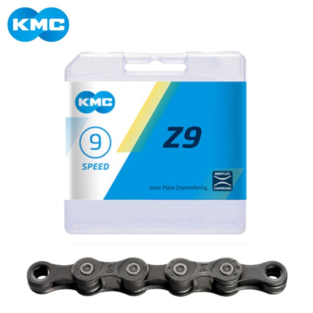 KMC Z9 9 velocidad 116L de montaña Mtb bicicleta de carretera bicicleta cadena 27 velocidad bicicleta plegable cadenas de BMX con cadena mágica