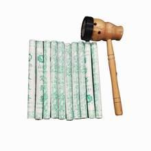 Boîte de brûleur Moxibustion Moxa avec 10 rouleaux de bâton Moxa pur-massothérapie traditionnelle chinoise pour Antistress et Acupuncture