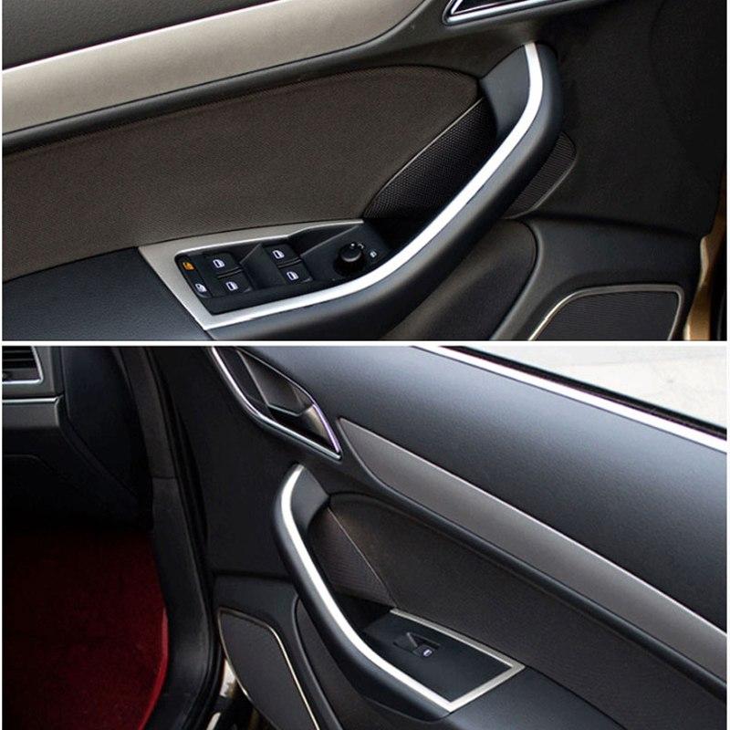 Interior de acero inoxidable accesorios de lado de ventana de puerta de ascensor regulador para Audi Q3 8V 2012, 2013, 2014, 2015, 2016, 2017 estilo