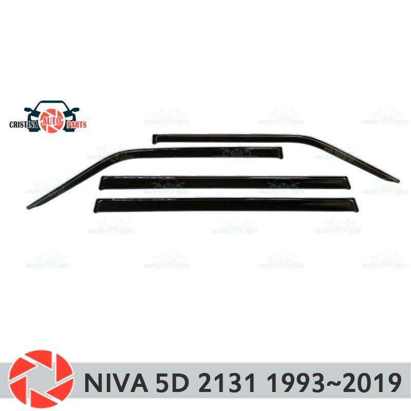 Deflector de ventana para Lada Niva 4x4 2131 1993 ~ 2019, deflector de lluvia, accesorios de decoración de estilo de coche