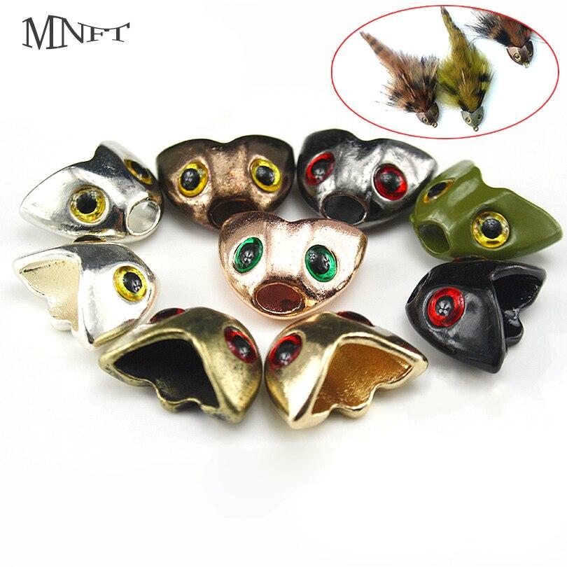 MNFT 5 uds múltiples calavera de color esculpir casco moscas de pescado serpentinas peso atado de moscas Material