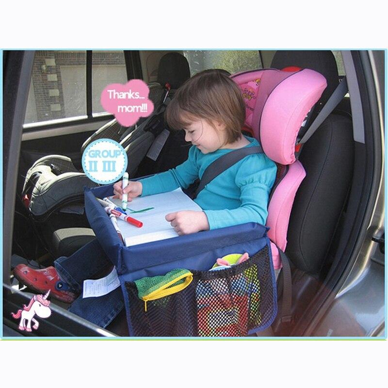 CHIZIYO, bandeja de almacenamiento para asiento de coche de mesa impermeable, juguetes para niños, soporte para cochecito infantil para niños, 2 colores