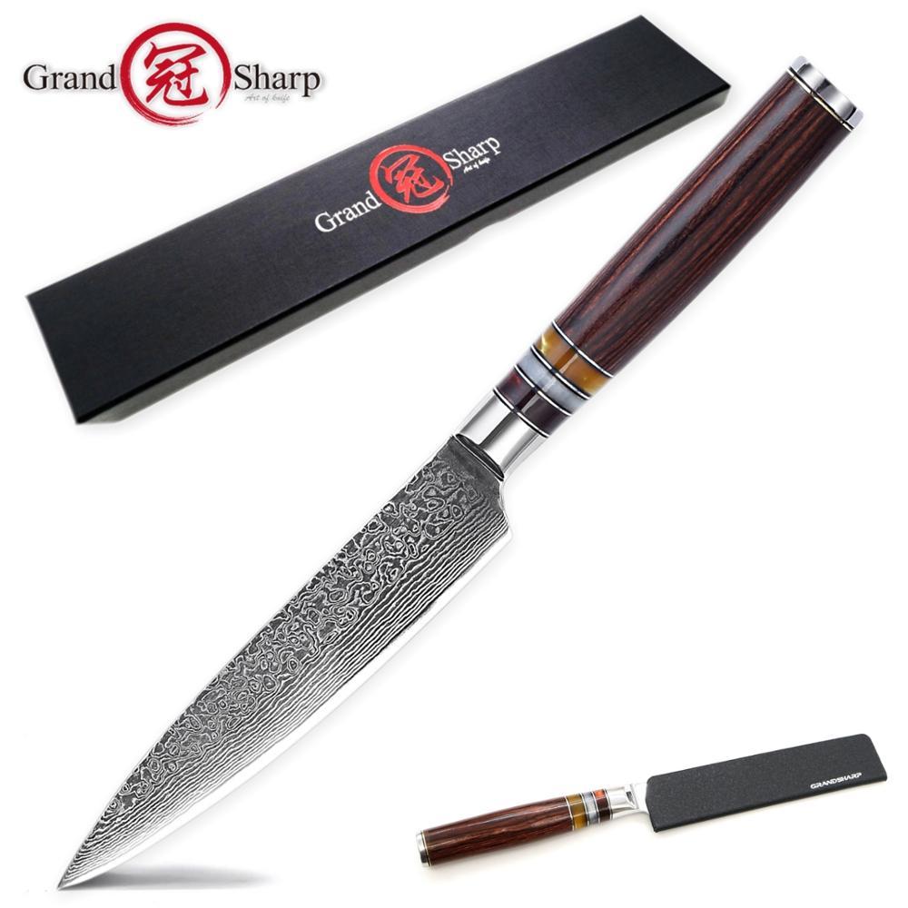 Cuchillo cuchillo de cocina Damascus de 67 capas Damasco japonés vg10 de acero inoxidable para cortar fruta salmón herramientas de cocinero nuevo