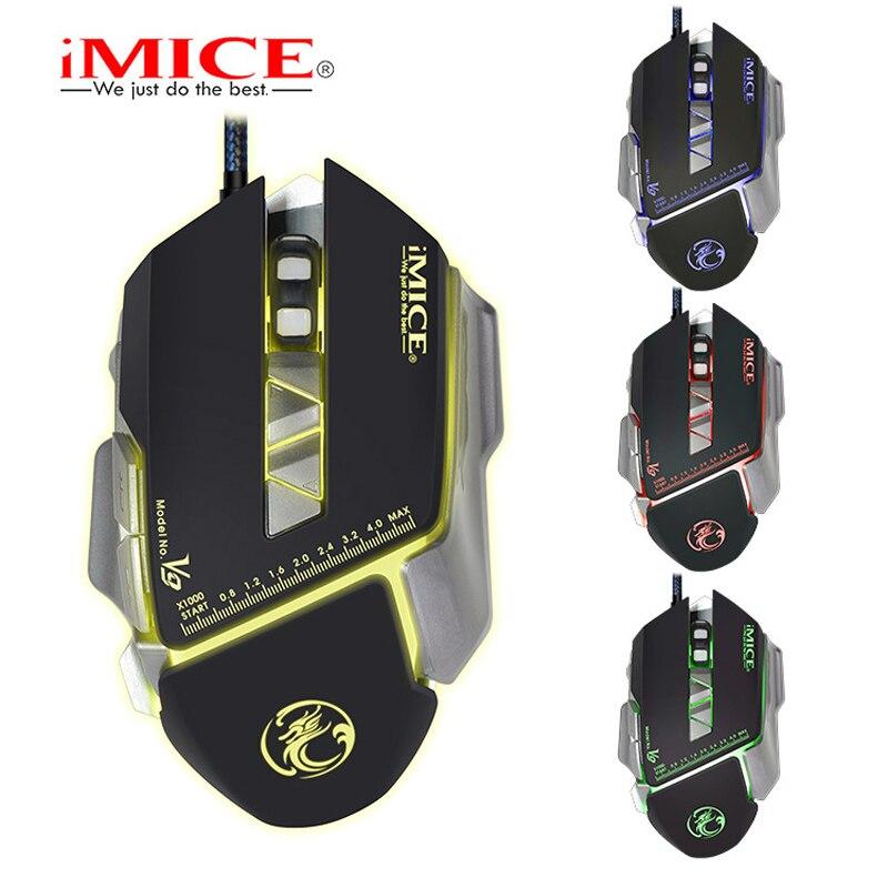 Проводная игровая мышь iMICE V9 USB оптическая 7 кнопок компьютерная для ПК CS DOTA LOL