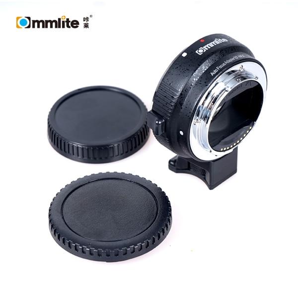 Adaptador de Commlite Auto Focus CM-EF-NEX B para lente Canon EF a cámara de montaje Sony E