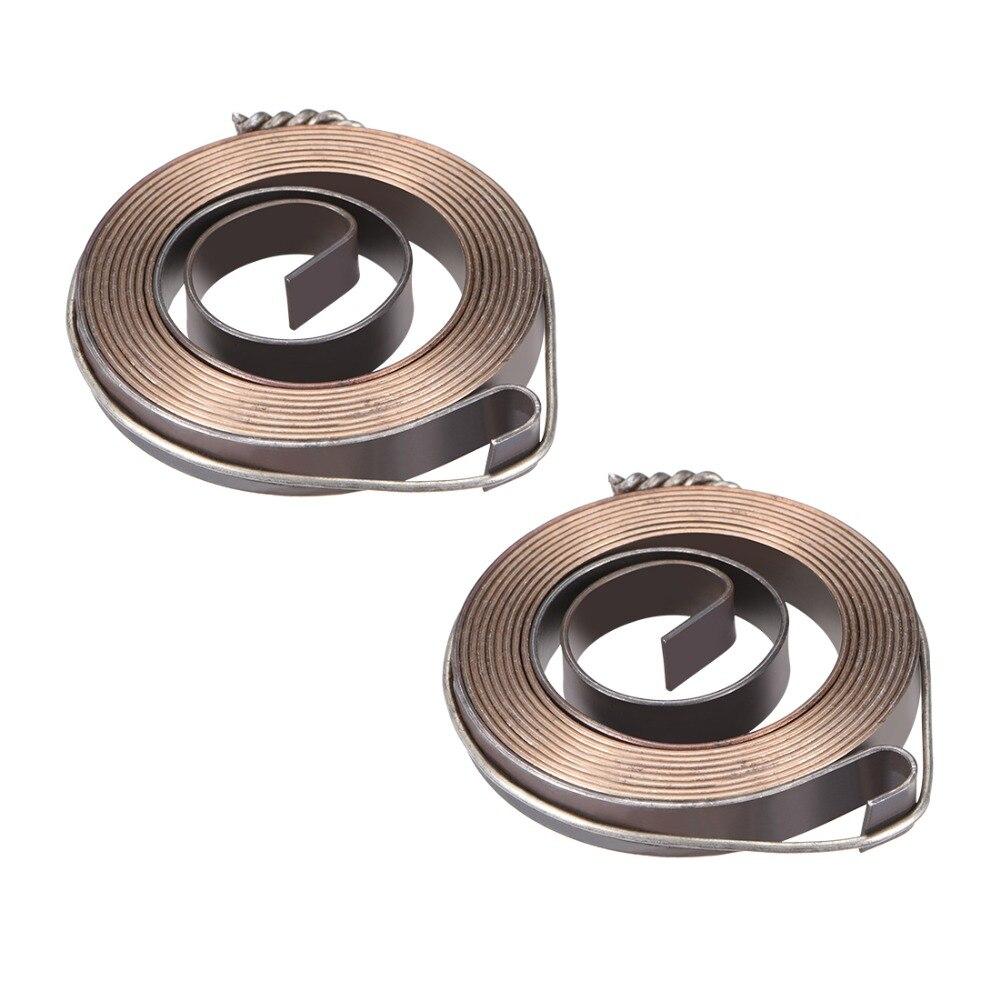 UXCELL 2 uds taladro prensa resortes prensa Quill alimentación retorno bobina montaje resorte acero químico ennegrecimiento acabado 8 Sizs