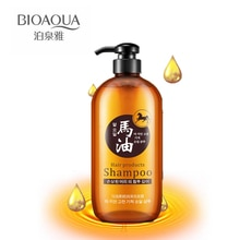 Aceite de caballo BIOAQUA, champú para el cabello, Control de aceite, brillo hidratante, mejora de los champús, estilo coreano, sin aceite de silicona para el cuidado del cabello