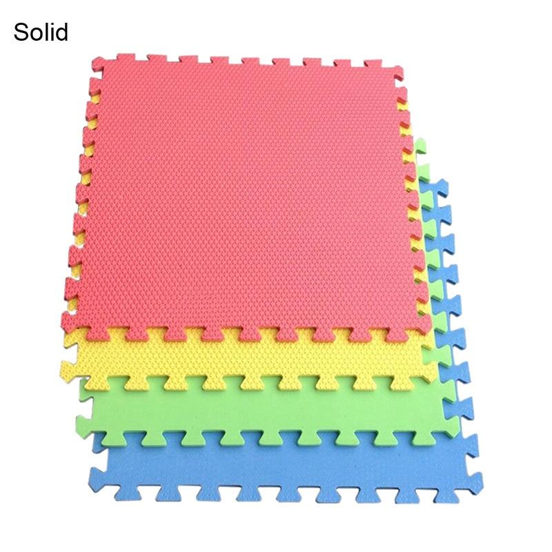 10pcs/lot baby toy foam puzzle play mat Interlocking Exercise split joint floor mat per 30cm*30cm 0.8cm Thick for children
