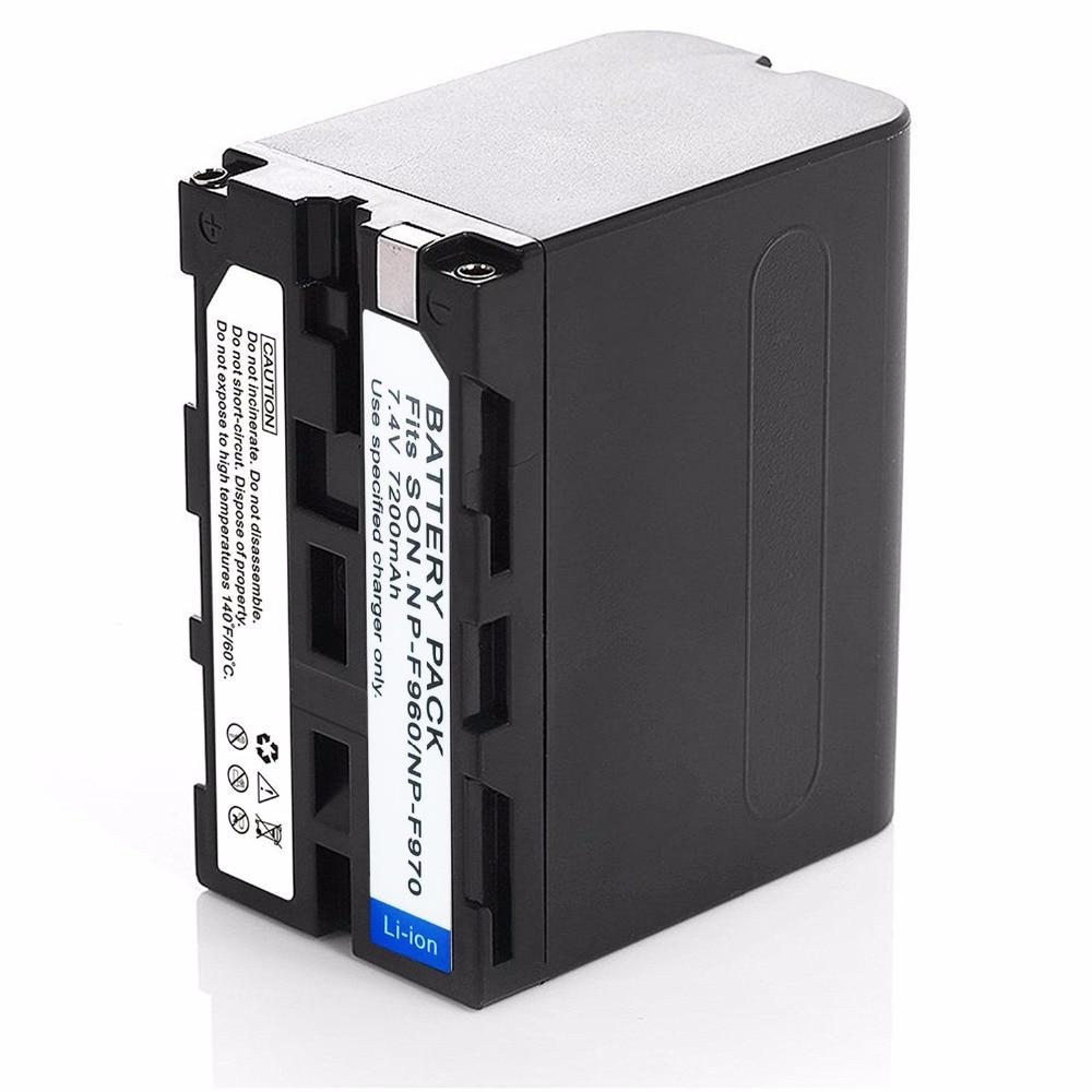 Dinto 1pc 7200mAh NP-F950 F960 F970 F750 F760 NP-F750A batería para Sony...