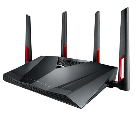ASUS RT-AC88U AC3100 Dual Band Gigabit WiFi Gaming Router with MU-MIMO, supporting AiProtection network security by Trend Micro