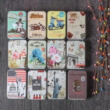 Diniwell Kleurrijke Mini Tin Metalen Doos Verzegelde Jar Verpakking Dozen Sieraden Candy Box Kleine Opslag Blikjes Oorbellen Hoofdtelefoon Geschenkdoos