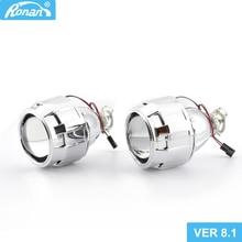 RONAN 2.5 mise à niveau bi-xénon projecteur lentille Ver8.1 voiture style phare rénovation bricolage H4 H7 phares lentilles utiliser H1 ampoule