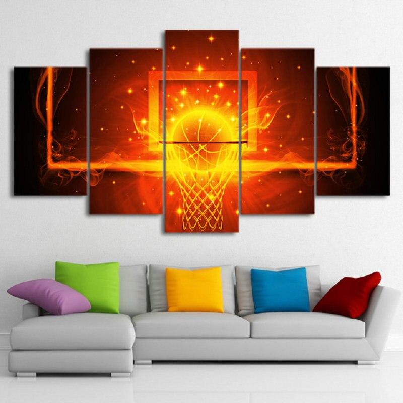 Patrón de baloncesto bordado de diamantes 5ps Diy pintura de diamante cuadrado rhinestone pegado manualidades costura fútbol decoración del hogar