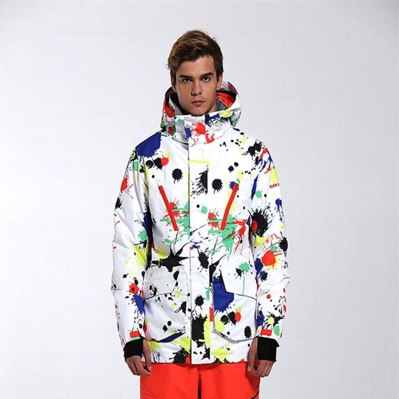 ¡Novedad de 2019! chaqueta de esquí GSOU para hombre, chaqueta de Snowboard, ropa deportiva para exteriores con capucha, ropa muy cálidas, impermeable, transpirable