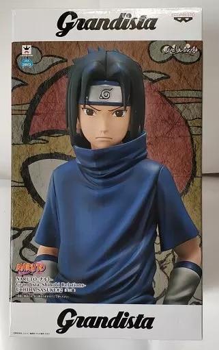 Original Banpresto Naruto Grandista ROS GROS shinobi relations kid UCHIHA Sasuke PVC Action figure toys model Figurals dolls