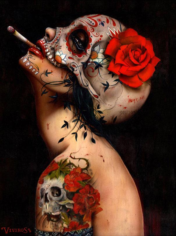 Pintura al óleo sobre lienzo de alta calidad, reproducciones de La Muerte...