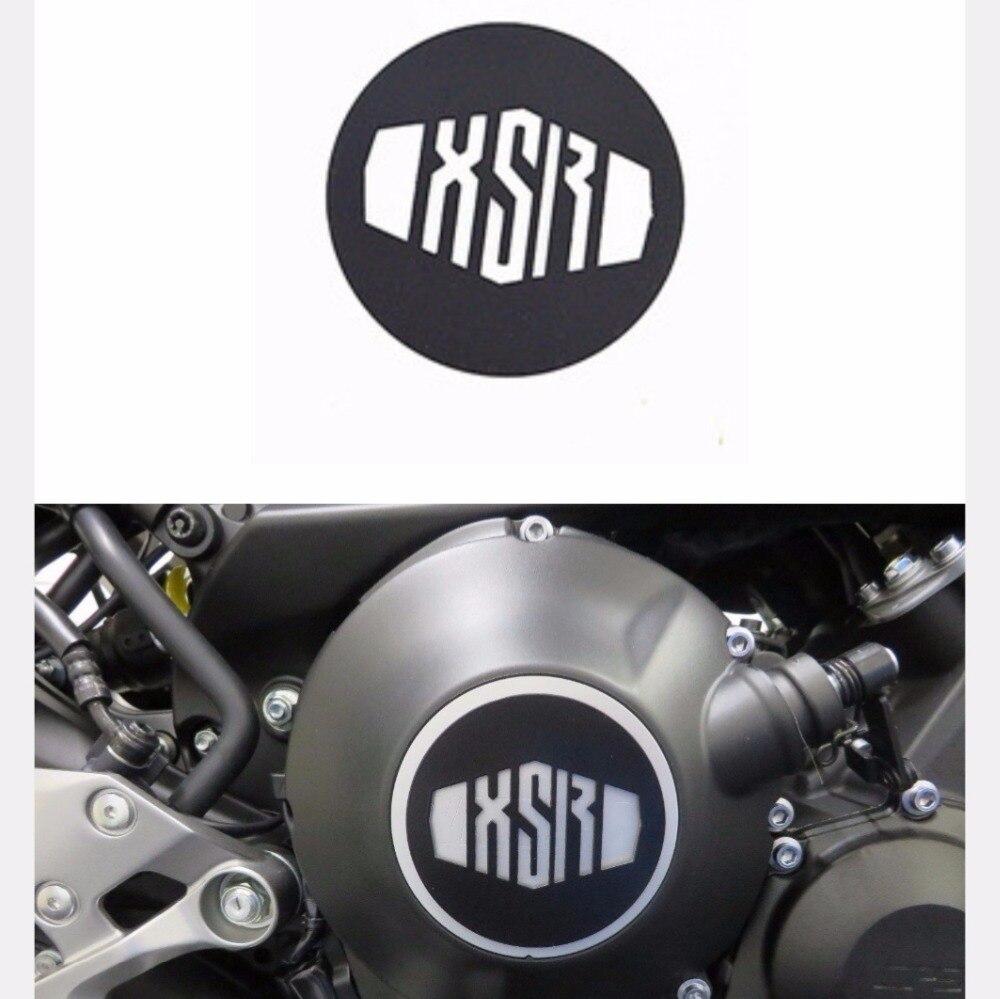Para YAMAHA XSR 900 Black Powder Coated inoxidable fusible camiseta con caja placas XSR 900