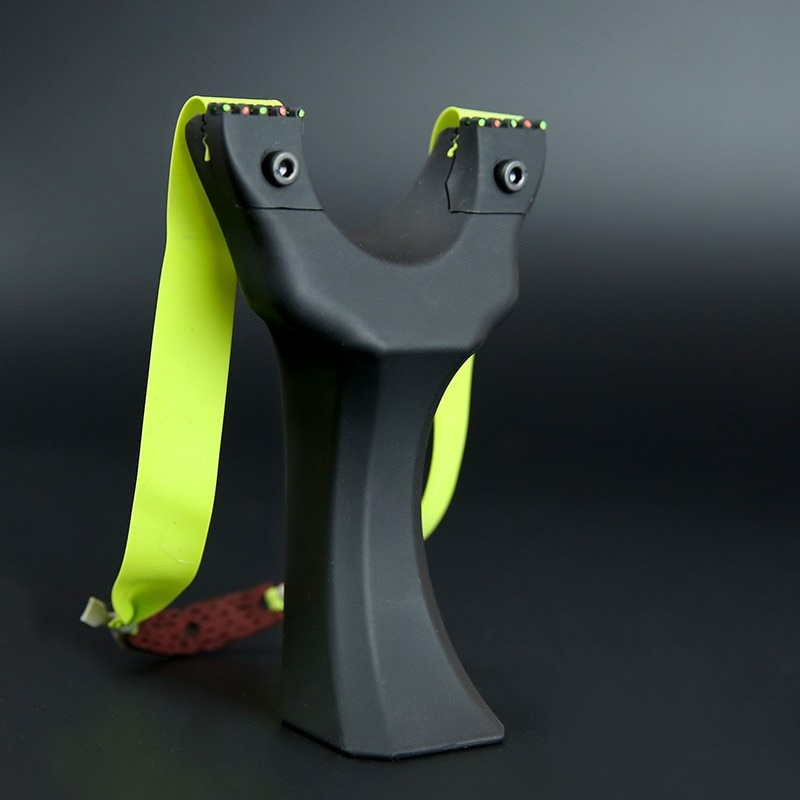 Tirachinas de presión rápida de primavera en resina endurecida con bandas de goma compatible con actividades de caza para principiantes