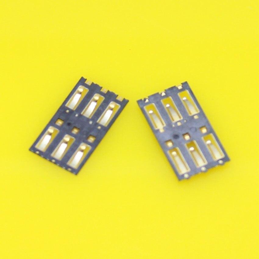 Vervanging, 2 stks/partij Nieuwe sim-kaart socket connector voor Nokia N9 lumia 800 1020 900 920 925 928 en voor Xiaomi 3 M3.