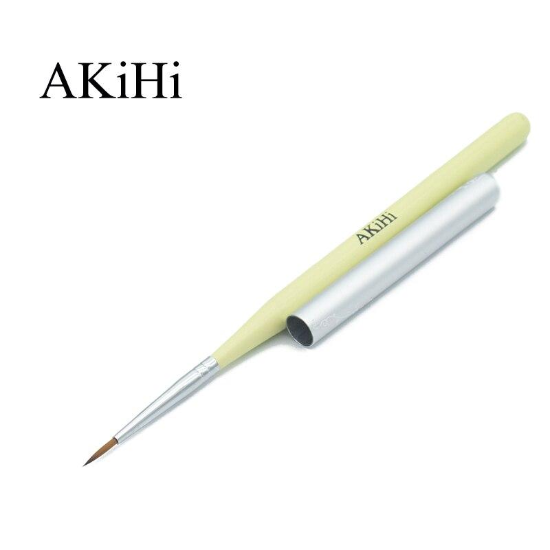 AKiHi, pigmento de propileno para uñas de 11mm, pinceles de pintura y dibujo, decoración de uñas, herramientas para bolígrafos de flores 3D con tapa