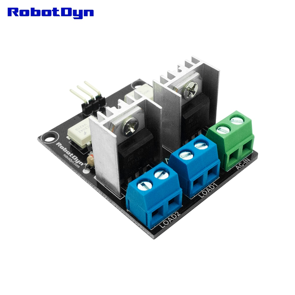 SSR - solid state relay AC Switch for microcontrollers , 2 Channel, 3.3V~12V logic,  AC 220V/110V, 5A