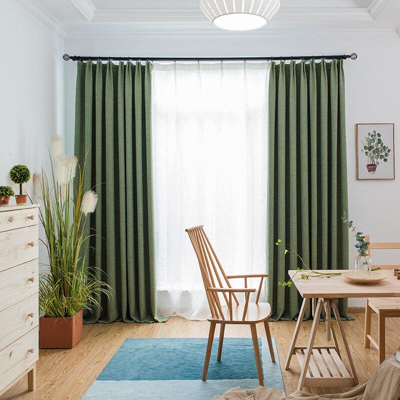 تعتيم الستائر لغرفة النوم الحرارية معزول نافذة الستائر عازل للضوضاء الستار مخصص