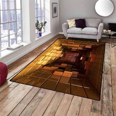 Caja amarilla cubos Whirlpool 3d patrón de impresión antideslizante microfibra sala de estar decorativo moderno alfombra lavable de área Mat
