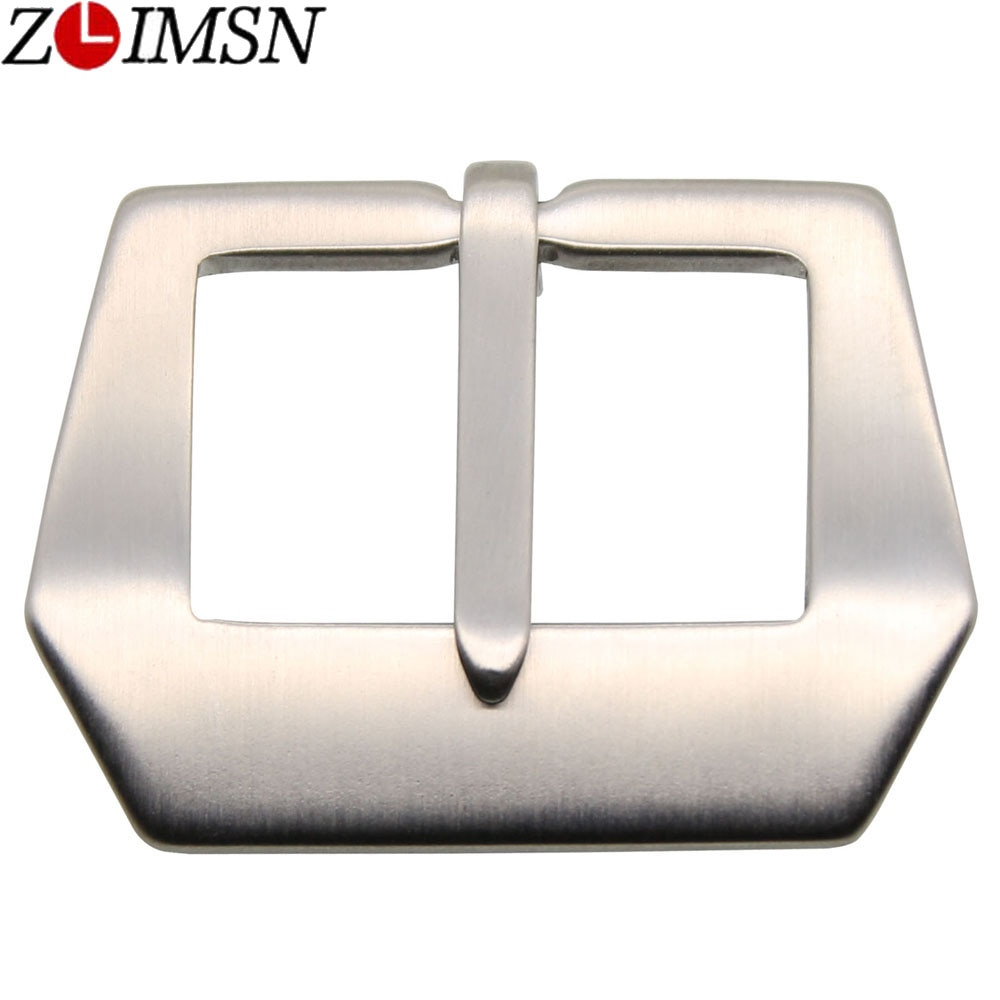ZLIMSN Free Shipping 100Pcs Watch Buckle 20 22 24 26 28mm Pure Soild Stainless Steel Watchband Clasp Silver Brushed Wholesale