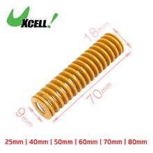 Uxcell moule à ressort jaune Long   18mm 20mm Id 9mm 10mm en acier allié au chrome, jaune 25mm 70mm 80mm 90mm
