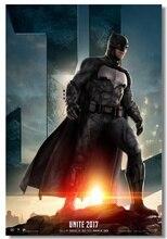 Custom Canvas Wall Decorations Dining Room Ben Affleck Decals DC Batman Wallpaper Batman Poster Justice League Stickers #0040#