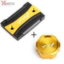 Couvercle de réservoir pour YAMAHA FZ1 FAZER FZ 1 2006-2015   Logo Laser, motos en aluminium, pochette de frein avant et arrière