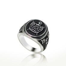 Nouveauté anneau de démolition de la couronne des templiers pour hommes femmes en acier inoxydable Vintage noir couleur sculpture Punk Party Mason bijoux cadeau
