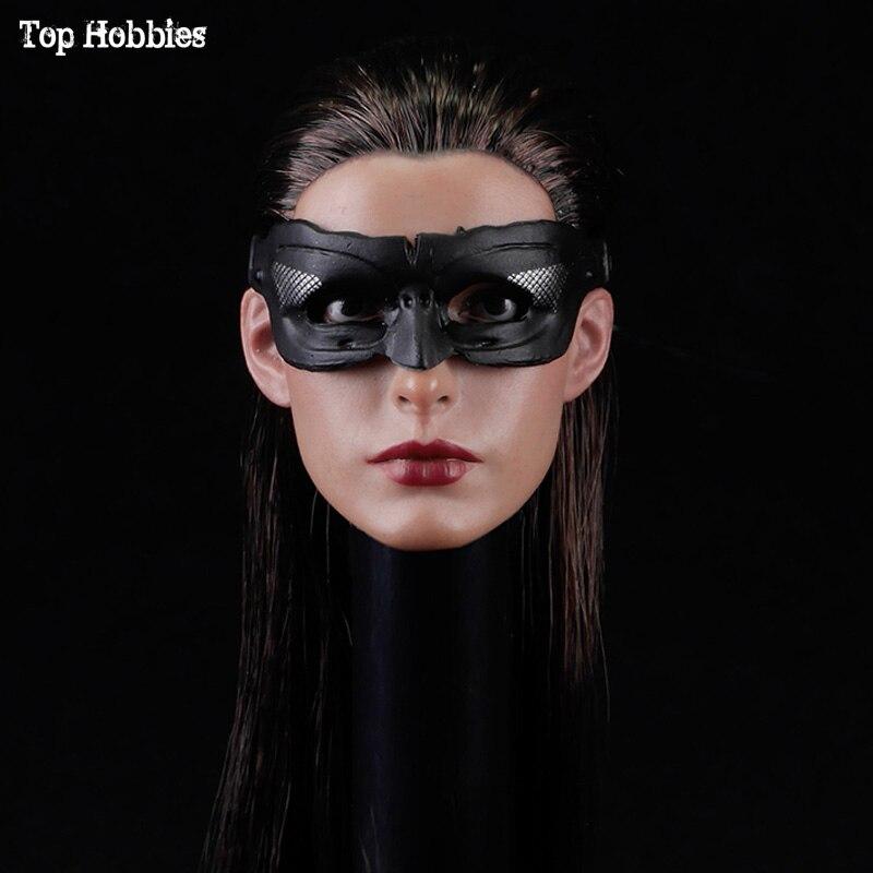 Toys escala 1/6 SOTOYS so-017, cabeza esculpida modelo Anne Hathaway so-batman, Catwoman para cuerpo de figura de Acción Femenina de 12 pulgadas