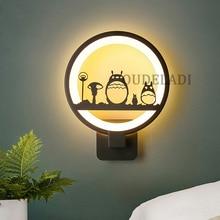 AC85-265V Modern Acrylic wall light creative circle LED Wall Lamps bedroom living room dining room corridor black Sconce