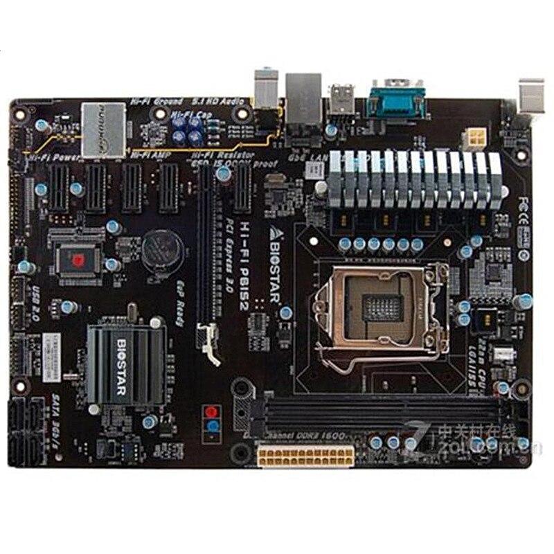 Placa base Original usada para Biostar HI-FI P61S2, zócalo H61, LGA 1155 DDR3 16G USB2.0 (alternativa H61 H81 BTC PRO TB85 H81A)