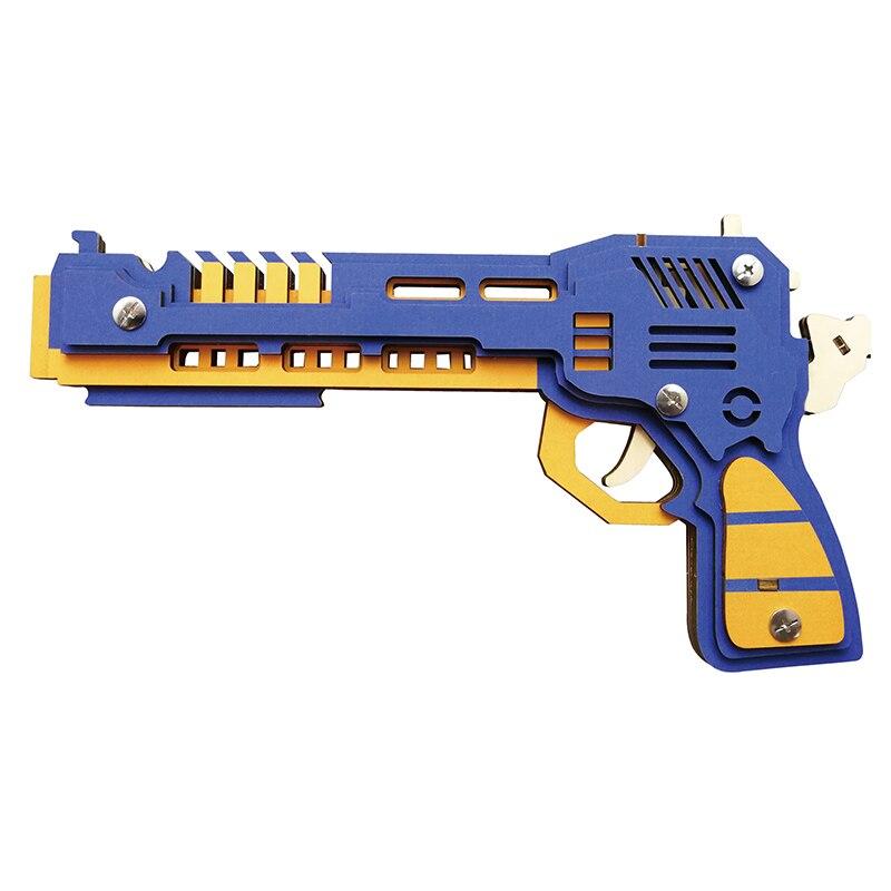 Battle wolf-مسدس بشريط مطاطي ، مجموعة نماذج خشبية ، افعلها بنفسك ، sklejania arquitetura ، بازل hobi