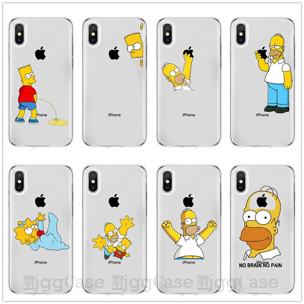 Homer J. Simpson Телефон чехол для iPhone 6 6s 7 8 PLUS X XR XS MAX Милый Забавный модный мультяшный силиконовый чехол для телефона s чехол для телефона Coque Capa Funda для iPhone 11 Pro Max чехлы