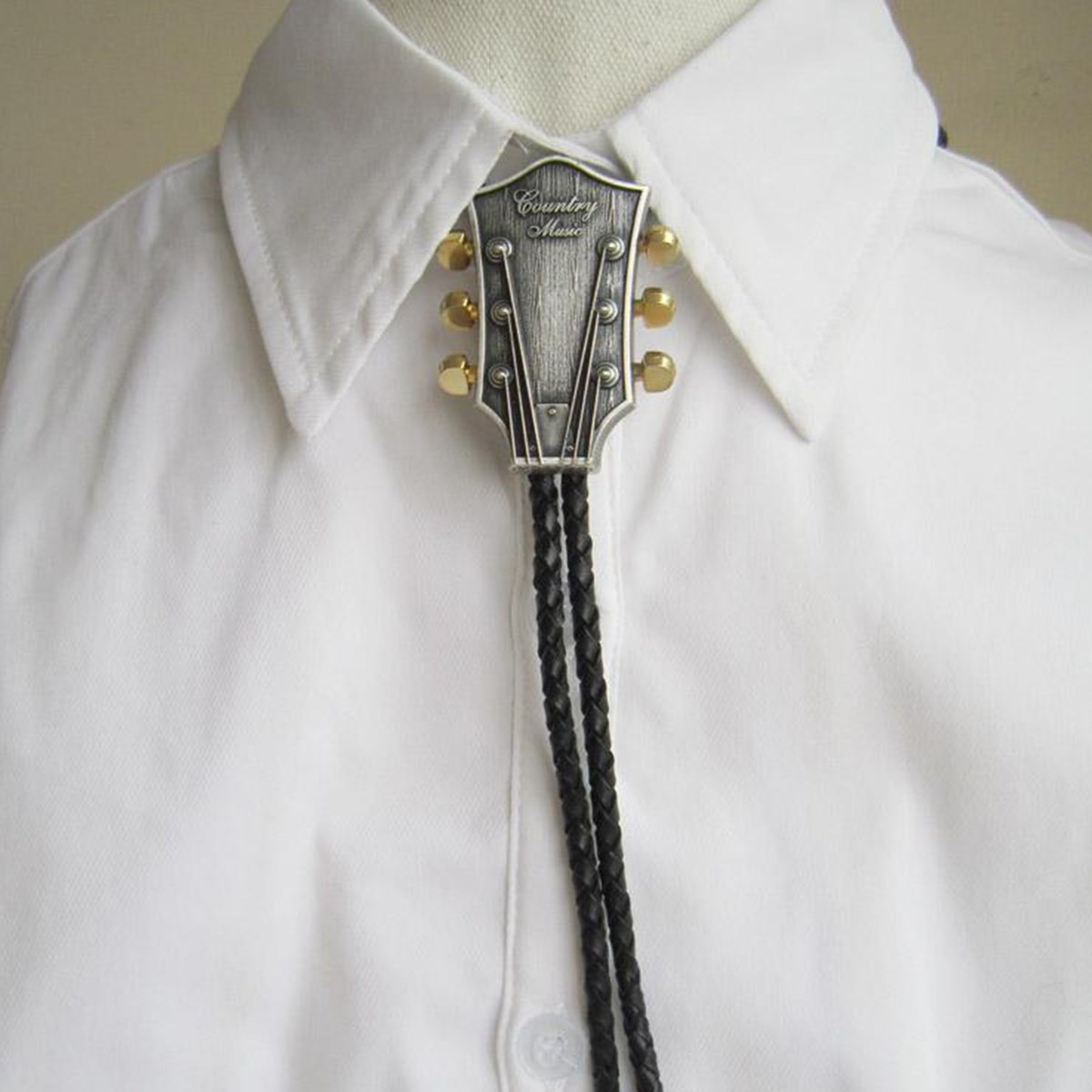 Мужской модный галстук-бабочка, ковбойский мужской аксессуар, черный галстук-бабочка из искусственной кожи с надписью «кантри музыка», мет...