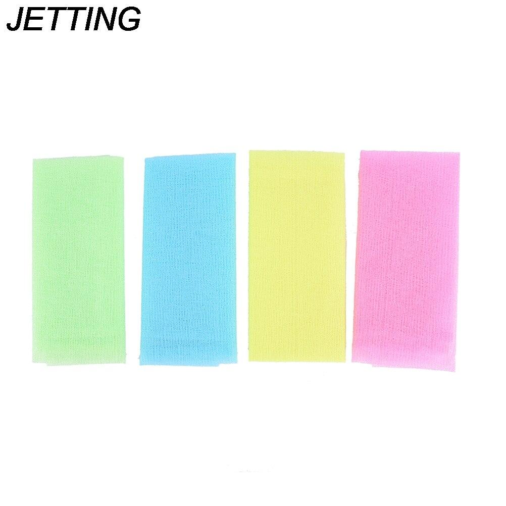 1 stücke Nylon Japanese Peeling Schönheit Haut Bad Dusche Waschen Tuch Handtuch Zurück Peeling Körper Reinigung Waschen Schwämme & Wäscher