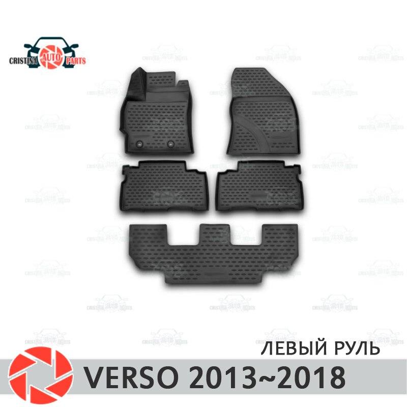 Tapetes para Toyota Verso 2013 ~ 2018 tapetes antiderrapante poliuretano proteção sujeira interior car styling acessórios
