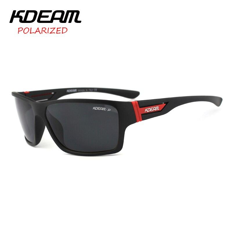 KDEAM Brand Sunglasses Men Sports Sun Glasses Women Polarized Mirror lens zonnebril mannen 7 Colors UV400 With Hard Case KD510