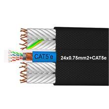 24X075 + CAT5e pvc platte flexibele lift kabel
