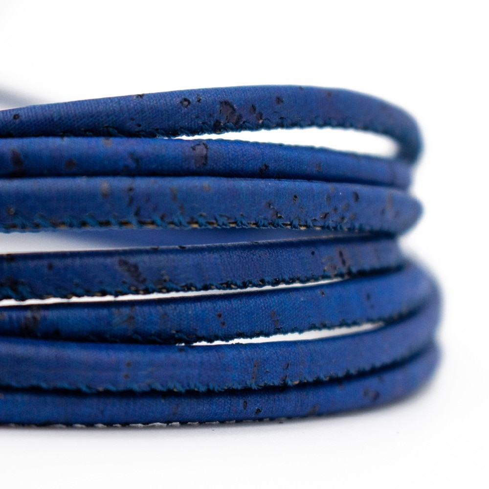 3mm redondo azul escuro cortiça cabo português cortiça atacado jóias suprimentos/achados COR-173-10