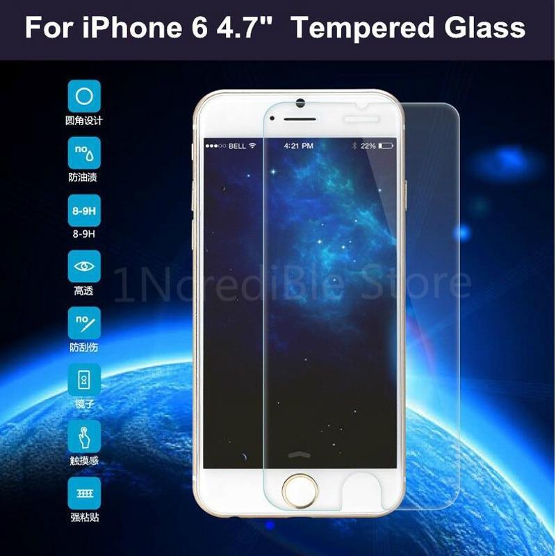Protecteur d'écran pour Iphone, Film en verre trempé pour modèles X XS XR Xs Max 6 6s 7 8 Plus 5s 4