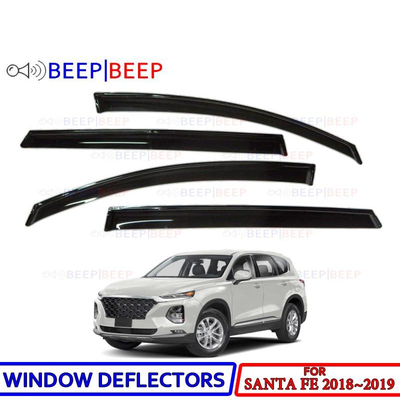 Автомобильные оконные дефлекторы для Hyundai Santa Fe 2018 ~ 2019 автомобильный дефлектор для защиты от ветра защита от дождя Защита от солнца козырек крышка Стайлинг Аксессуары